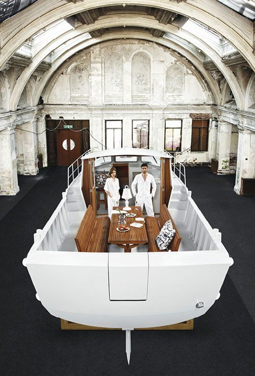 Firmship 42 by Willem Nieland & Studio Job: Old Boats, Work Of Art, Breakfast Nooks, Firmship 42, Interiors Design, Firmship Fs42, Floating Work, Architecture, Studios Job