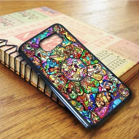 All Characters Disney Stained Glass Samsung Galaxy S6 Edge Plus Case