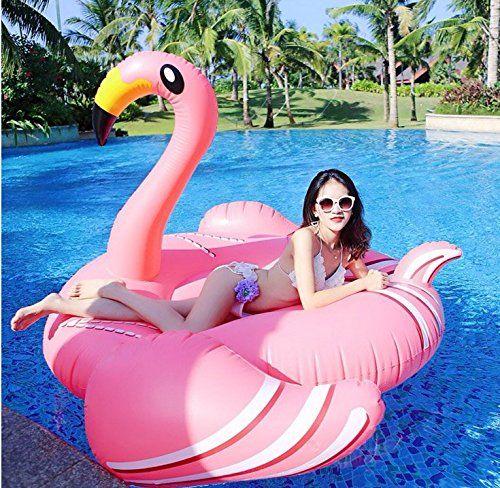 Aufblasbares Riesen Flamingo 190*200*130 - Schwimmring - Badeinsel - Schwimmreifen - Rosa