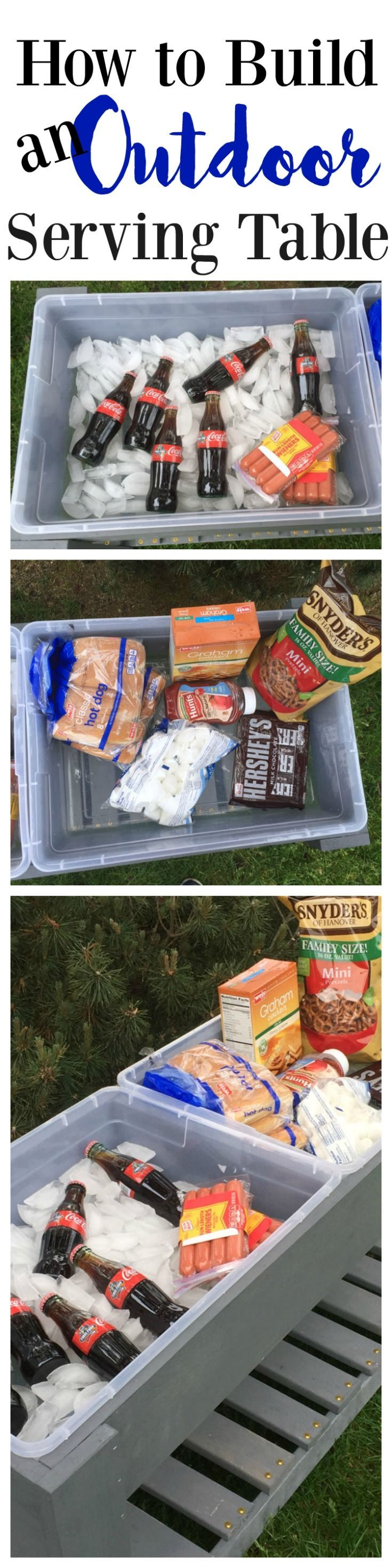 How to Build an Outdoor Serving Table