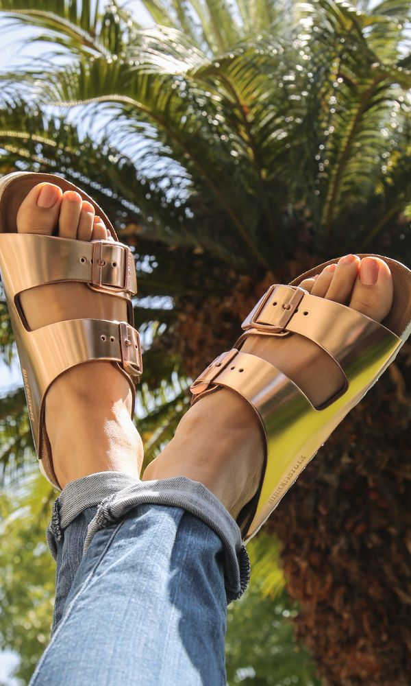 Travel sandal essentials the Birkenstock Arizona Copper
