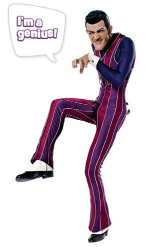 Robbie Rotten! The villain of Lazy Town, another of Serena's favourite shows. (Mum and Dad like watching this one too! hehe)