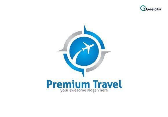Premium Travel Logo Template by Geelator on @creativemarket - #agency #logodesign #logotemplate #logoshop #airplane #airport #booking #destination #summer #tours #tour #transport #travel #trip #vacation #world #aviation #tourist #travellogo #coupon #portal #commerce #getaway #sky #startup #logistic #visit #holiday