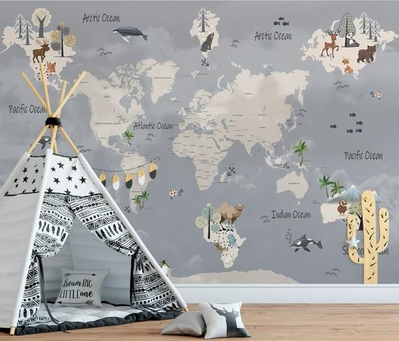 Wall Mural Ancient World Map Self Adhesive Peel Stick Large Etsy Vintage Maps Art World Map Canvas Ancient World Maps