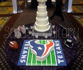 This would have been an awesome groom's cake for Josh, but the Texans didn't exist yet when we got married.