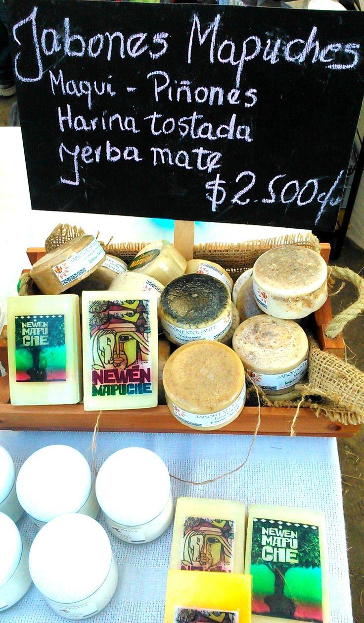 Jabones con piñones, harina tostada y yerba mate, productos inspirados en la cultura Mapuche <3