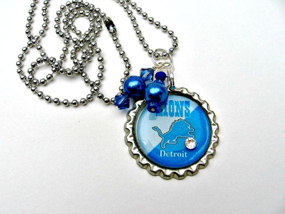 Detroit Lions Necklace Detroit Lions Jewelry Detroit Lions