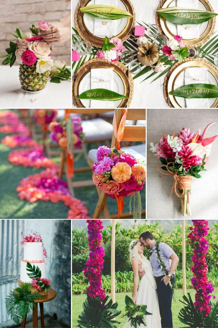 Pink, sötétzöld, narancs | Esküvői színek 2017 - 15 trendi színkombinációt mutatunk a tökéletes esküvői dekorációhoz. Inspirálódj velünk!