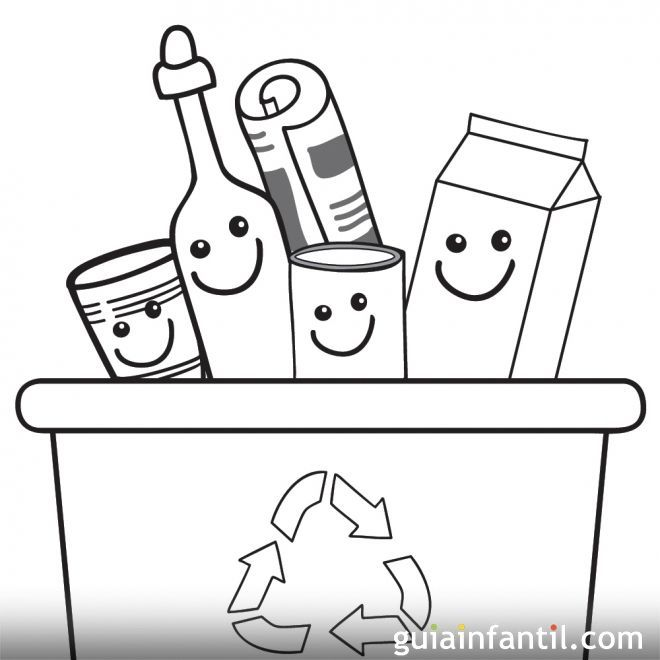 Dibujos Infantiles Para Pintar Y Enseñar A Reciclar Dibujos Para