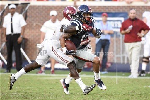 NCAA FOOTBALL: SEP 17 Alabama at Ole Miss