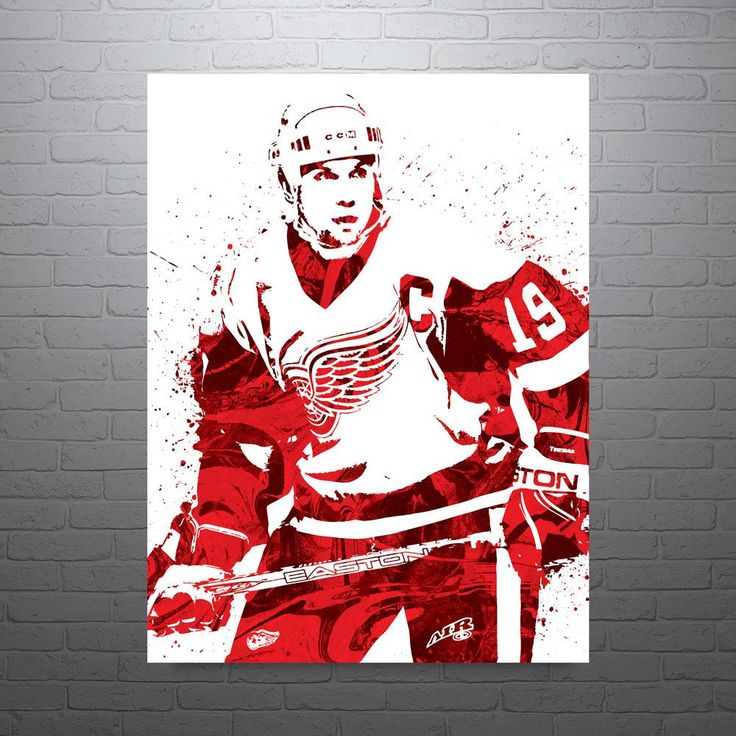 Steve Yzerman Detroit Red Wings Poster