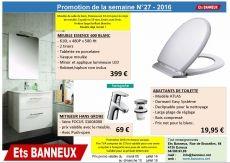Promotion de la semaine 27 meubel de salle de bain et Abattant