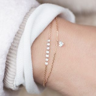 flying diamonds bracelets are very special pieces! you can even get them in a heart shape <3 find more at www.newone-shop.com