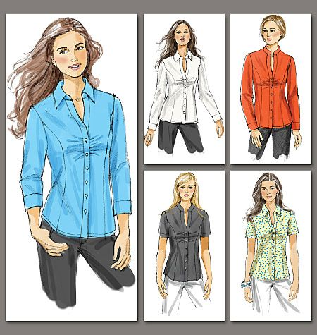Vogue Patterns 8747 from Vogue Patterns patterns is a Misses' /Misses' Petite Shirt sewing pattern