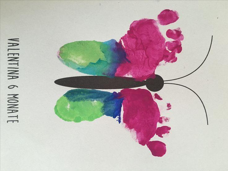 Fußabdrücke Baby, Geschenkideen, DIY   – Kinder – kreativ, basteln, malen