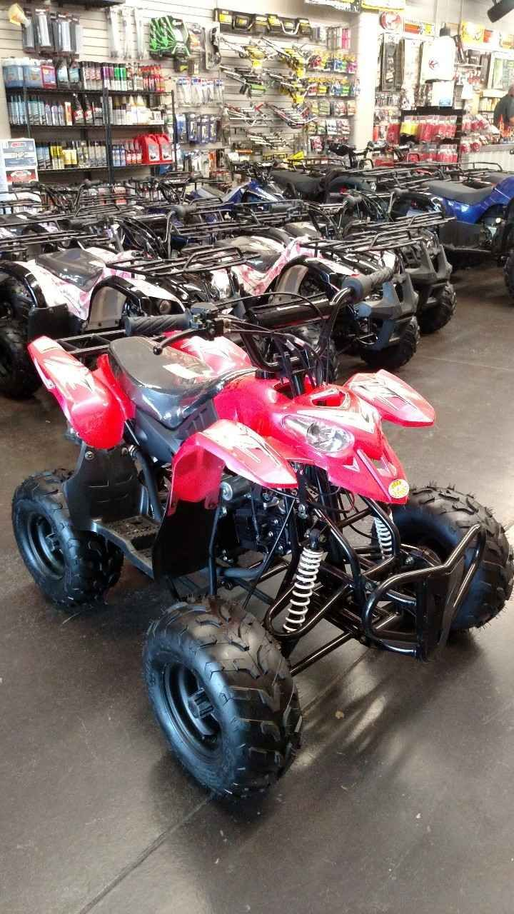 New 2016 Coolster ATV-110CC KIDS QUAD Model 2 ATVs For Sale in Utah. 110cc 4-Stroke Air-Cooled CDI Ignition Electric Start Fully Automatic Front Drum & Rear Disc Brakes Has a Throttle Governor along with remote shutoff feature for safety! Comes in multiple colors! Black, Blue, Red and Pink! All New units covered with 6 month parts/labor warranty through us!! We do it all! Sales-Service-Parts Like us on Facebook for special offers! Business Hours Mon-Fri 9 a.m. to 6 p.m. Sat 9 a.m. to 5 p.m…