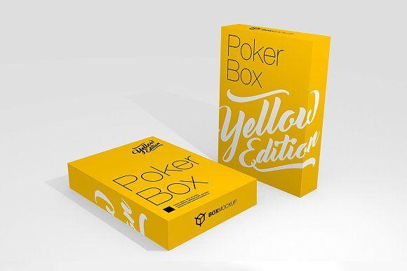 Poker/Playing Card Box by BoxMagic on @creativemarket