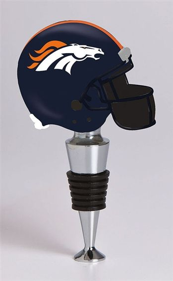 Denver Broncos Helmet Bottle Stopper. I get all kinds of dumb stoppers (I might like wine, like, a lot. Or something) but never ever one as cool as this.