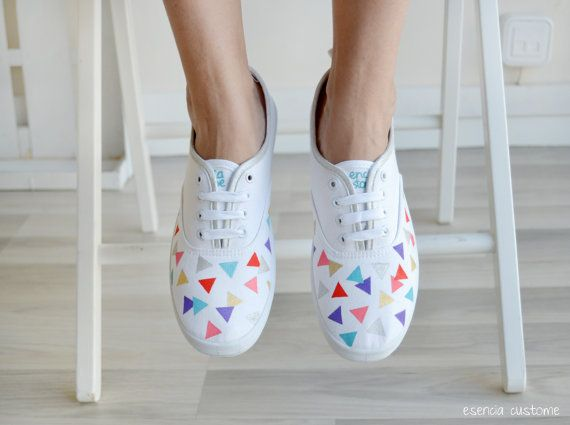 Hand-painted sneakers are fresh, fun and summer-ready.