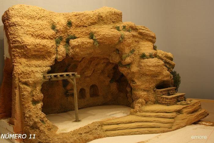Foro de Belenismo - Arquitectura y paisaje -> Montículo gruta Belén emore 2009.