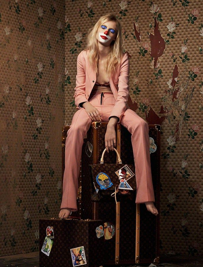 Cindy Sherman for Louis Vuitton Celebrating Monogram with Julia Nobis Shot by Johnny Dufort