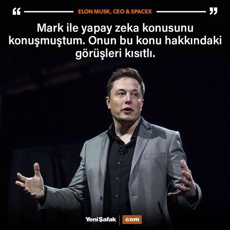 Tesla Motors ve SpaceX'in kurucusu Elon Musk,yapay zeka konusunda Facebook'un CEO'su Mark Zuckerberg'e böyle cevap verdi.