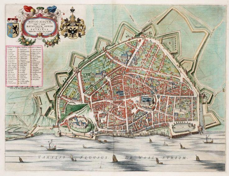 Oude kaart van Nijmegen, 1649 – J. Blaeu