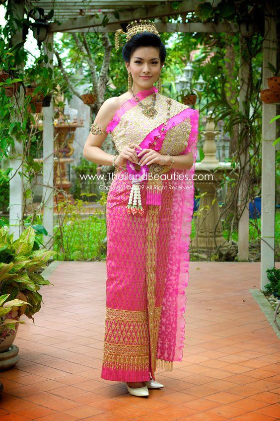 Awesome  Thai Traditional Costume Thai Dress Thai Model Thai Woman Girl