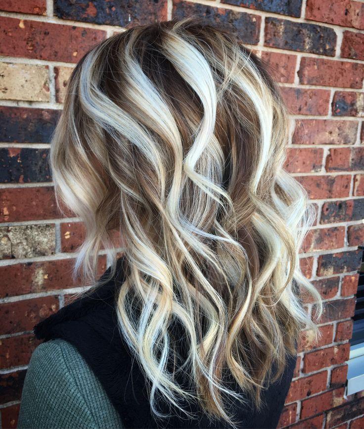 Icy Blonde Hair Balayage Painted Hair Platinum
