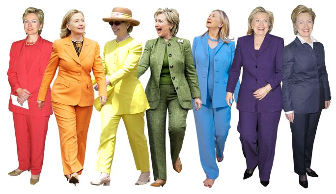 Hillary Clinton and Her Pantsuits: A Look At Her Colorful CampaignStyle from InStyle.com