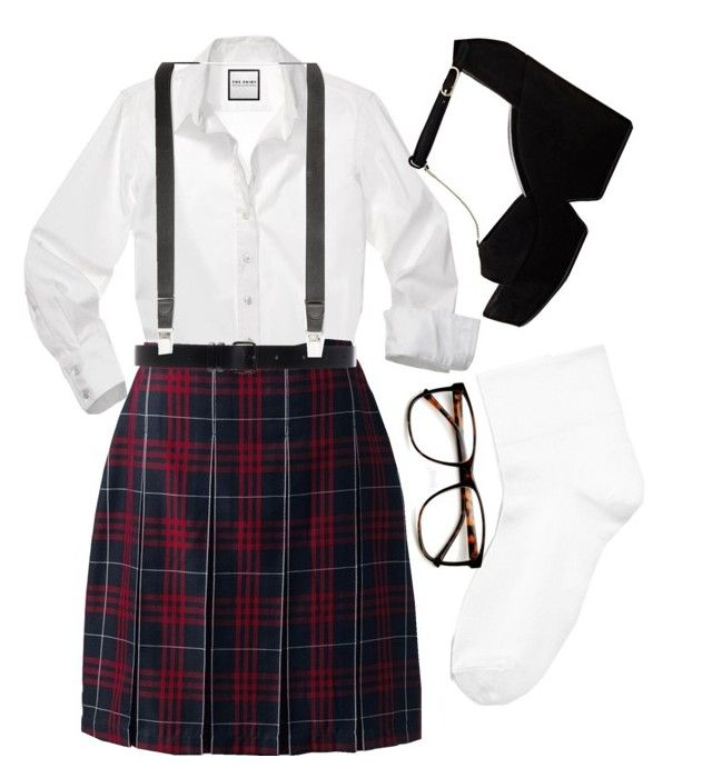 """""""DIY Nerd Costume """" by maddog22 ❤ liked on Polyvore featuring Lands' End, Ann Demeulemeester, Club Room, Hue, ZeroUV and Robert Clergerie"""