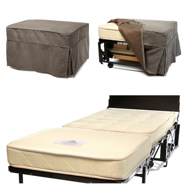 Castro Convertible Ottoman with Mattress I love this option for extra bedding in an RV.  they're not attached to any walls and can be put in the living area.  We're thinking of converting a bunk house into an office, this would be a great way to preserve extra sleeping space for a guest.