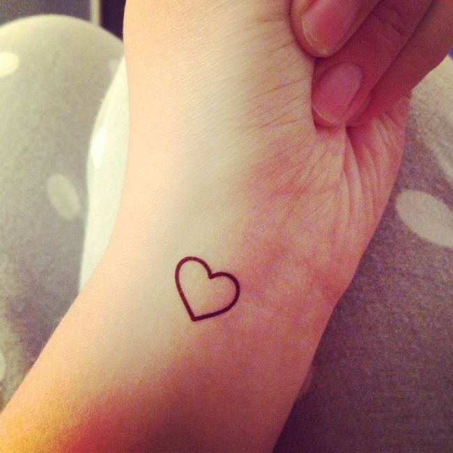 Simple Heart Tattoo