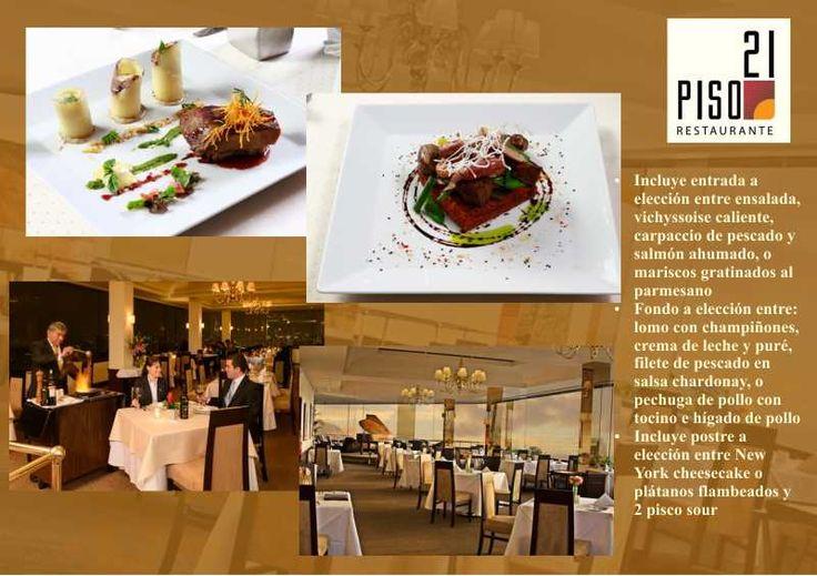 S/.125 en vez de S/.280 por cena romántica a elección para dos en Restaurante Piso 21 en Hotel Estelar Miraflores. Reservas con un mínimo de 24 horas de anticipación