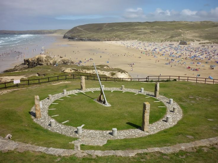 Perranzabuloe Millennium Sundial, Perranporth, Cornwall.