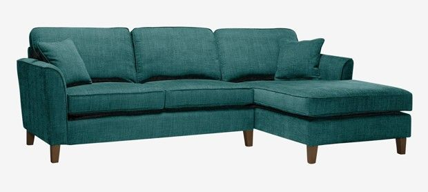 Carrie corner group right with fixed covers in Vogue teal