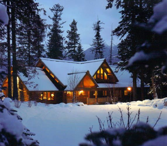13 best log home floor plans images on pinterest for Winter cabin plans