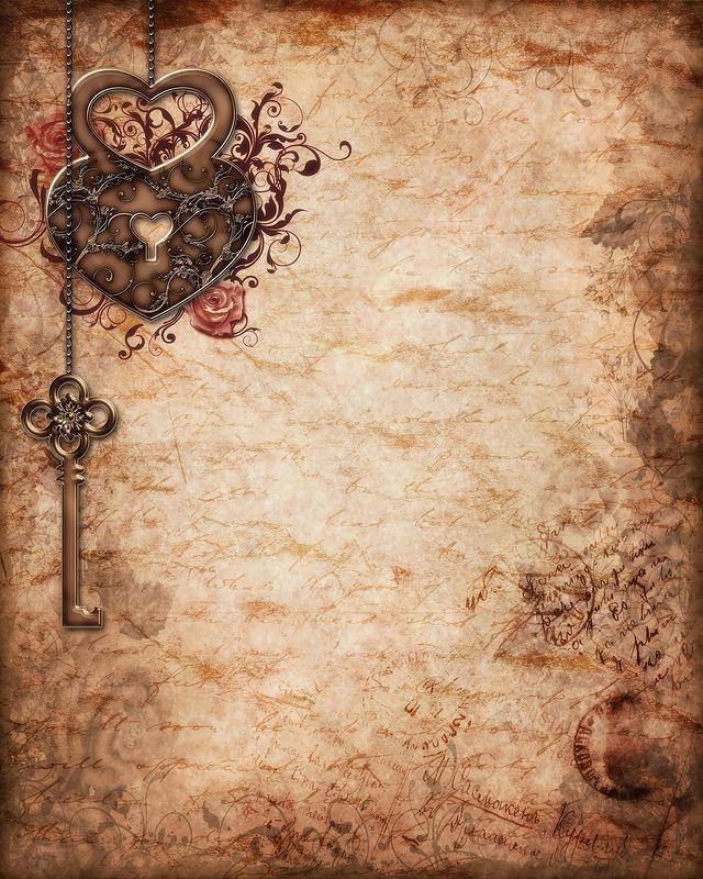Vintage llave & corazón