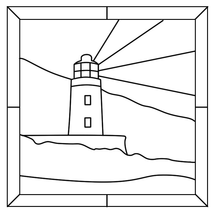 17 Best Images About Stain Glass Light Houses On Pinterest