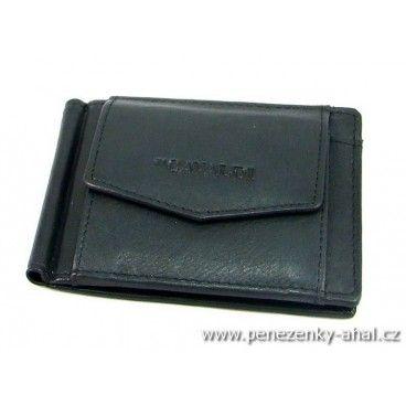 Dolarovka pánská kožená - to je stylová peněženka se sponou pro uchycení bankovek.