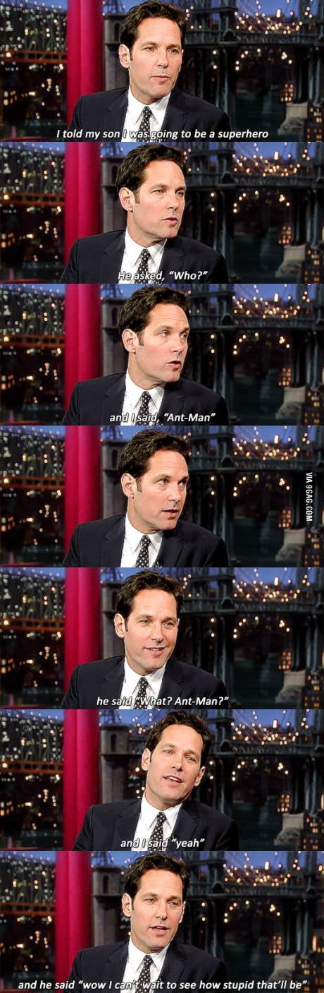 Paul Rudd's son on his dad playing Ant-Man