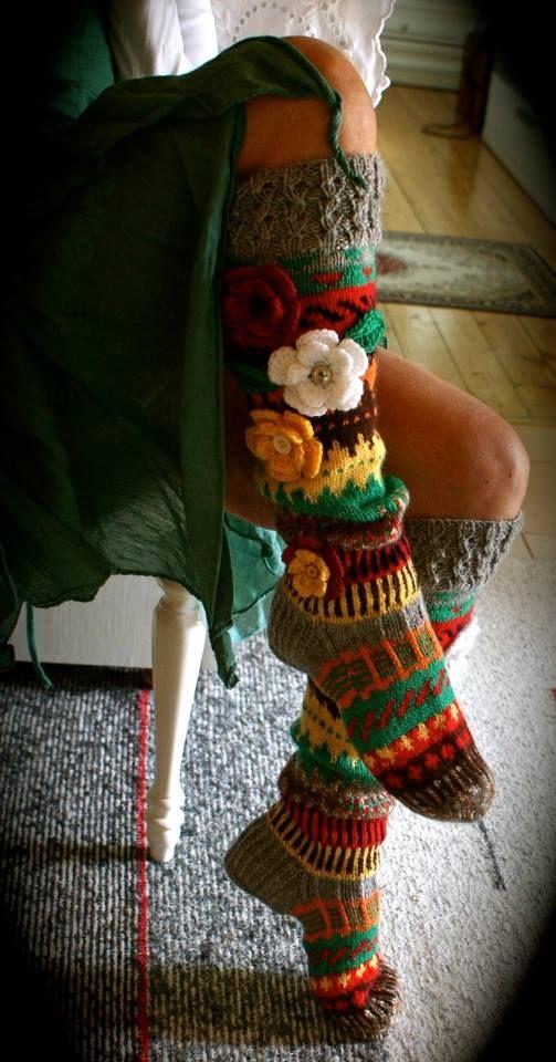 Irish crochet &: KNITTED STOCKINGS ......ВЯЗАНЫЕ ЧУЛКИ