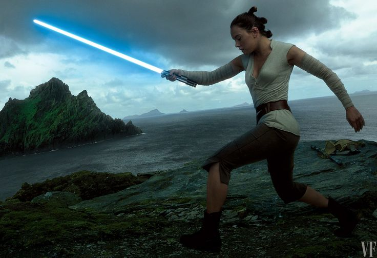 New Hope Daisy Ridley's Rey hones her lightsaber skills—and channels her inner Force.