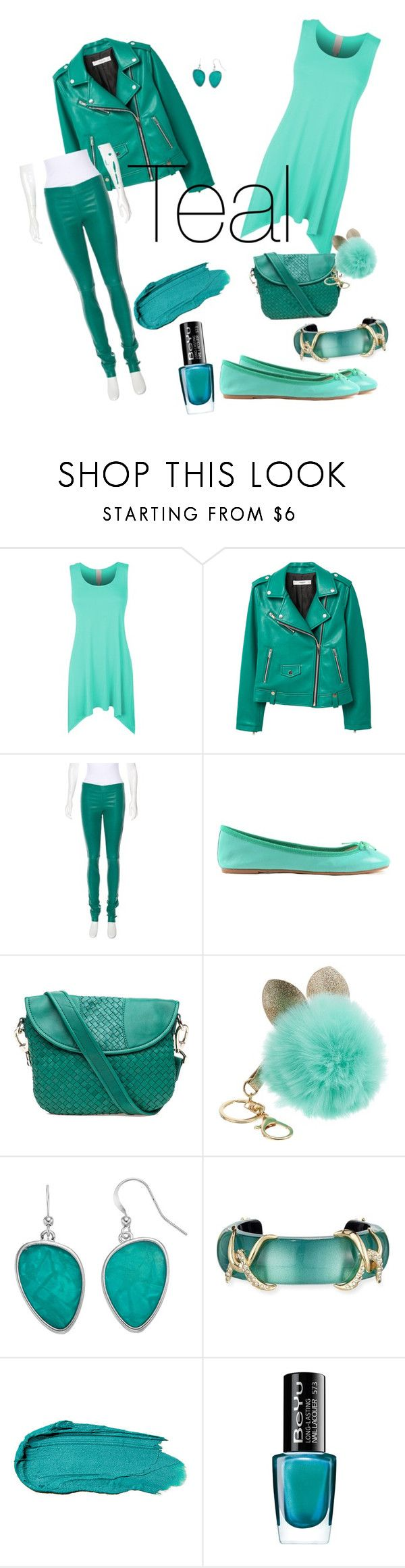 """""""Teal Everything"""" by mirandaellis1504 ❤ liked on Polyvore featuring LE3NO, MANGO, Joseph, ANNA BAIGUERA, Robert Zur, Alexis Bittar and BeYu"""