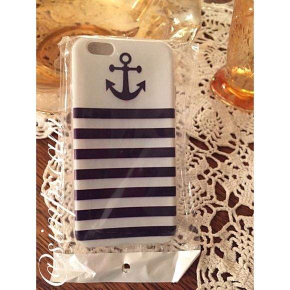NWT iphone6 Anchor phone case Also available in a bundle with other iPhone 6 cases in my closet. Is new and never used. Opened and tried on my phone but wasn't what I was looking for. Is flexible and bends as its a silicone type material. Accessories Phone Cases