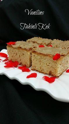 Tahinli Kek  Kek Tarifleri  Kek Hamuru   Tahin severler için bu akşam çok lezzetli bir kek tarif...