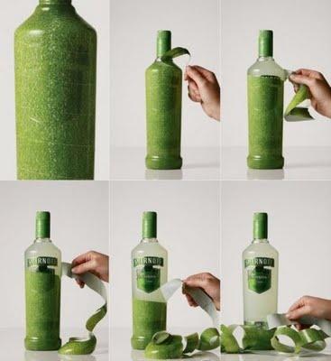 Smirnoff fruit bottle