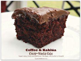 Coffee  Kahlúa Crazy Cake