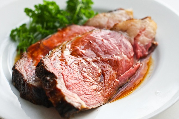 Gojee - Perfect Prime Rib Roast with Red Wine Jus by Steamy Kitchen