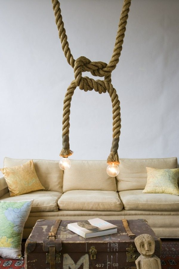 29 best Lighting | Pendants | Rope images on Pinterest | Hanging ...